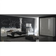Rossetto Nightfly 6 Piece Bedroom Set in Lacquer White
