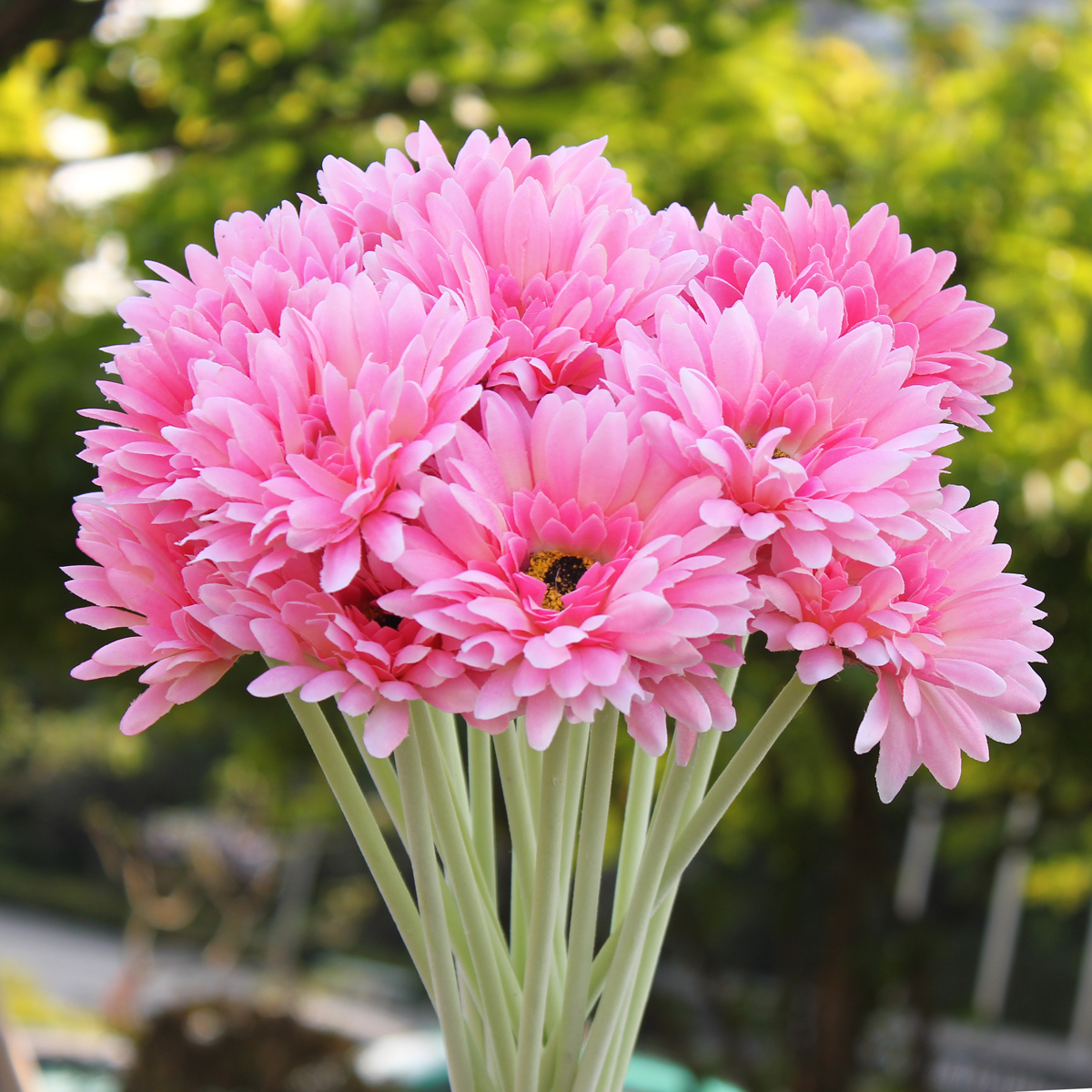 10PCS/Bouquet Artificial Colorful decoration Flower Silk Gerbera Flowers Wedding Party Home Garden Office Decoration