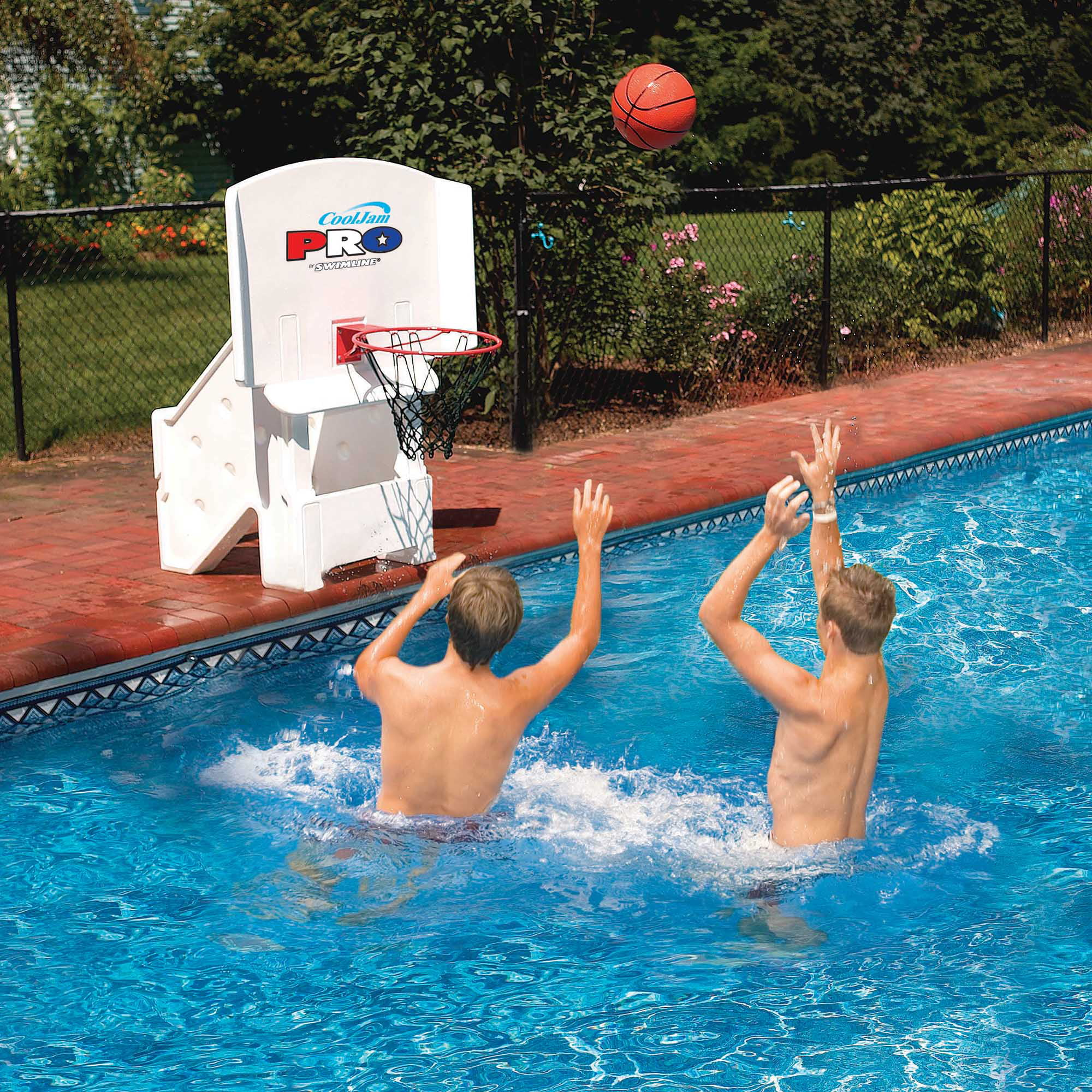 Swimline Cool Jam Pro Poolside Basketball Game Pool Toy by Blue Wave