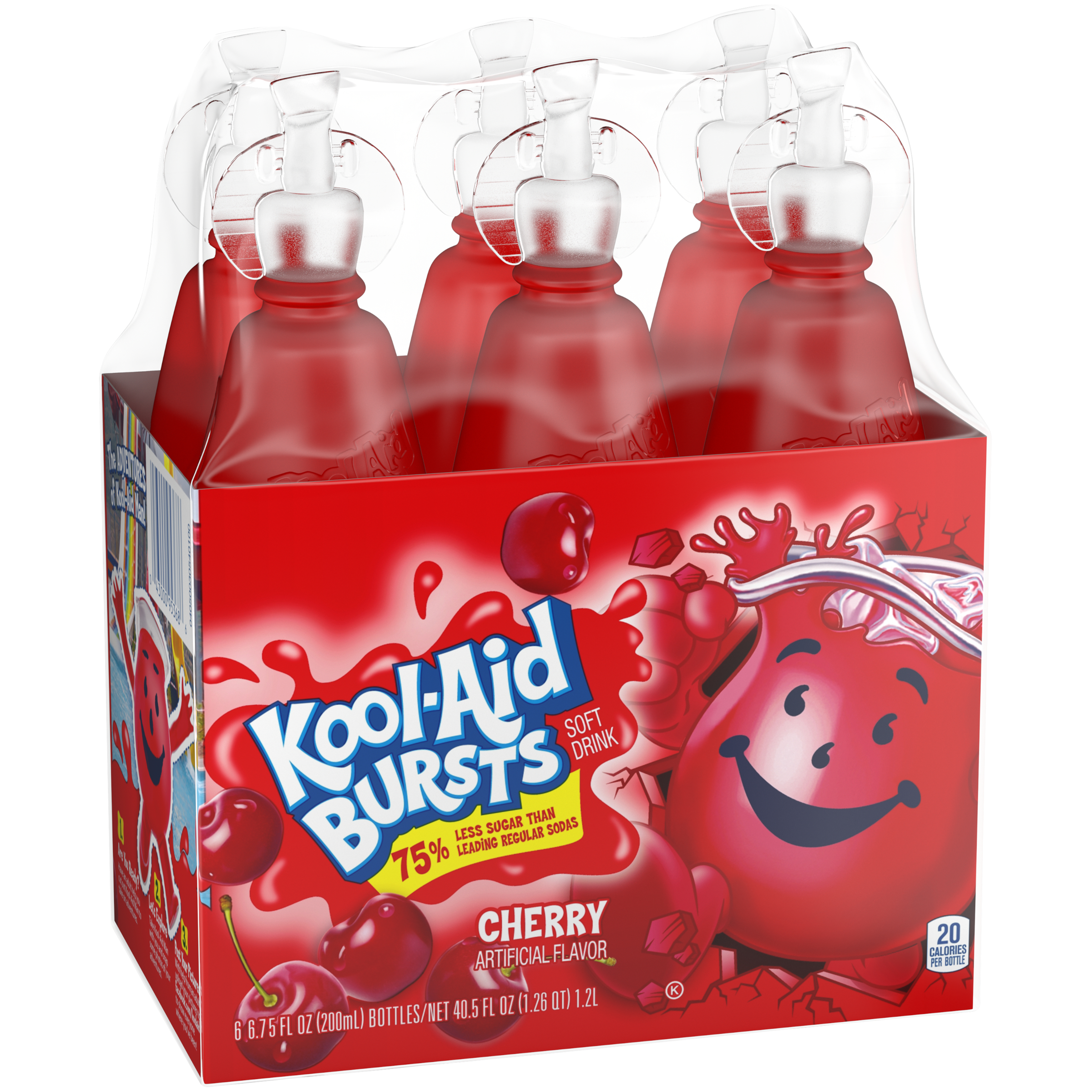 (2 Pack) Kool-Aid Bursts Cherry Ready-to-Drink Juice, 6 - 6.75 fl oz Packs