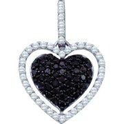 Gold and Diamonds GIP3640E-W 0.79CT-DIA HEART PENDANT- Size 7