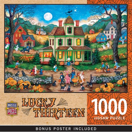 MasterPieces Halloween Lucky Thirteen 1000 Piece Jigsaw Puzzle by Bonnie White