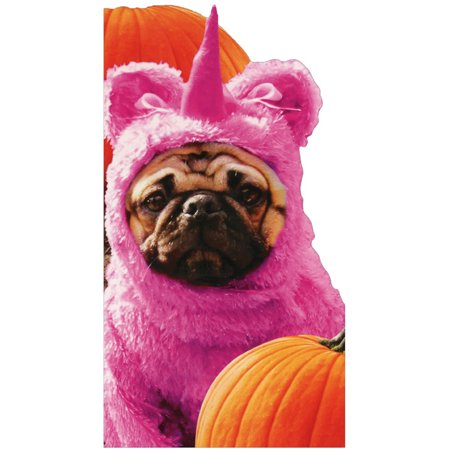 Avanti Press Pug In Unicorn Costume Funny Dog Halloween Card
