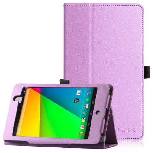 ULAK Google New Nexus 7 FHD 2nd Gen Case, Slim Smart Shell Stand Cover Case for Google Nexus 2 7.0 Inch 2013 Generation Tablet Light Purple (With Smart Cover Auto Wake / Sleep Feature)