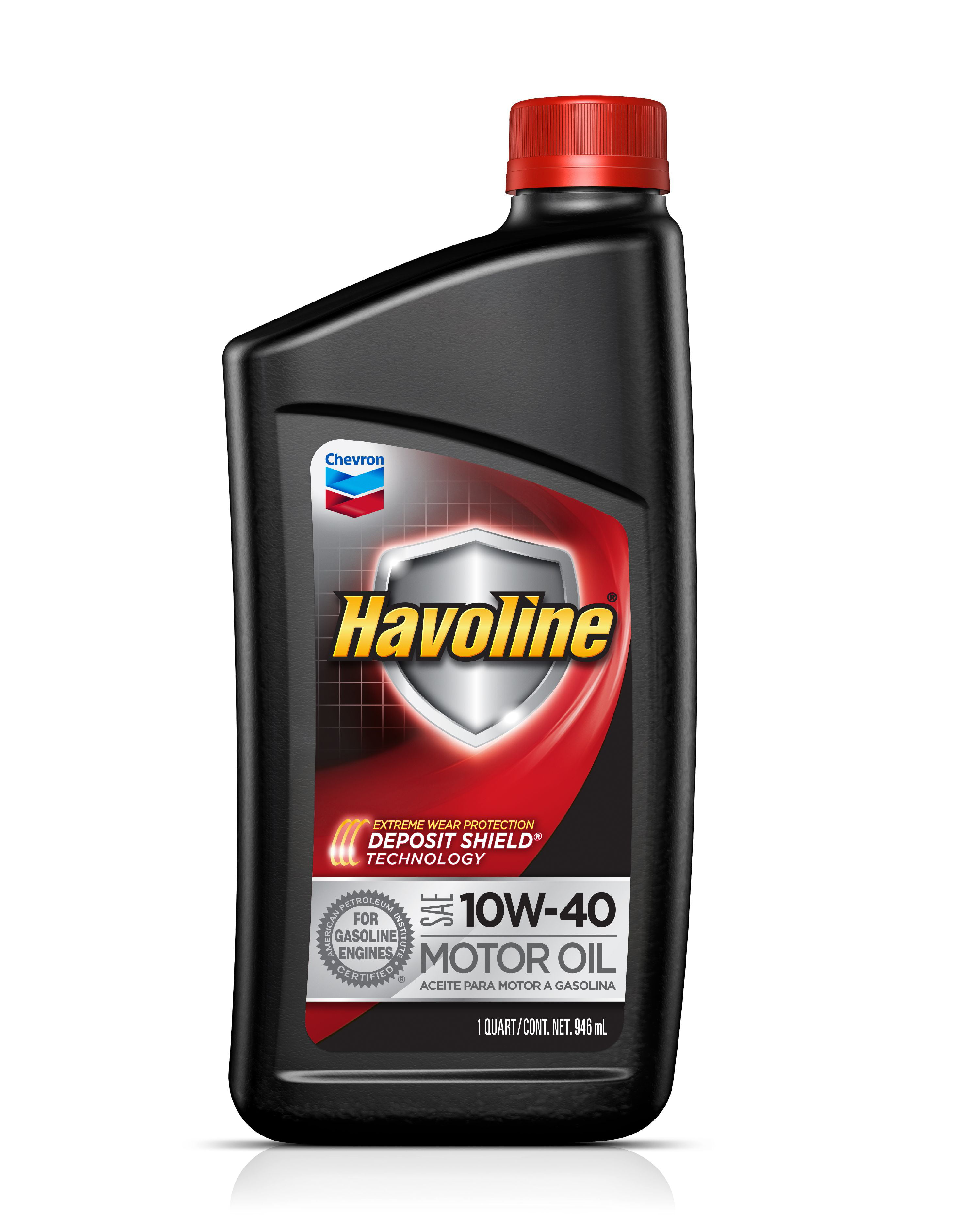 Havoline with Deposit Shield 10W-40 Conventional Motor Oil, 1 qt.