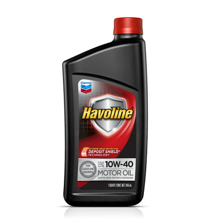 (6 Pack) Havoline with Deposit Shield 10W-40 Conventional Motor Oil, 1 (Motor Shield)