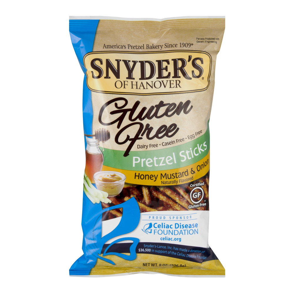 Snyder's Of Hanover Gluten Free Pretzel Sticks Honey Mustard & Onion, 8.0 OZ