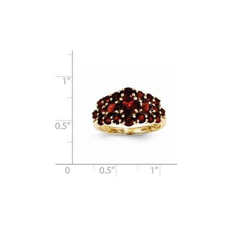 3.50 Carat (ctw) Red Garnet Cluster Ring in 14K Yellow Gold - image 1 de 2