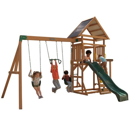 KidKraft Lawnmeadow Wooden Swing Set