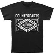 Counterparts Men's  Miserable T-shirt Black