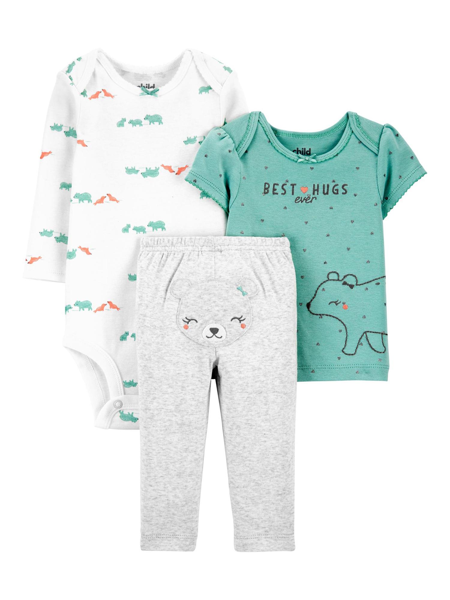 Simple Joys by Carters 3-Pack Snug Fit Footless Cotton Pajamas Bimbo 0-24
