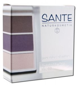 Eyeshadow Trios Aubergine 02 Sante 5 gm Powder