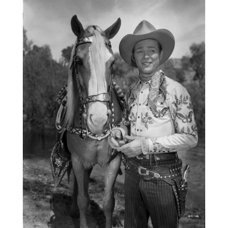 Roy Rogers Posed in Cowboy Outfit Print Wall Art By Movie Star News