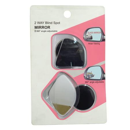 HTTMT- 2 Pack Car Blind Spot Side Mirror Stick On Glass Adjustable Safety Lens HD Glass