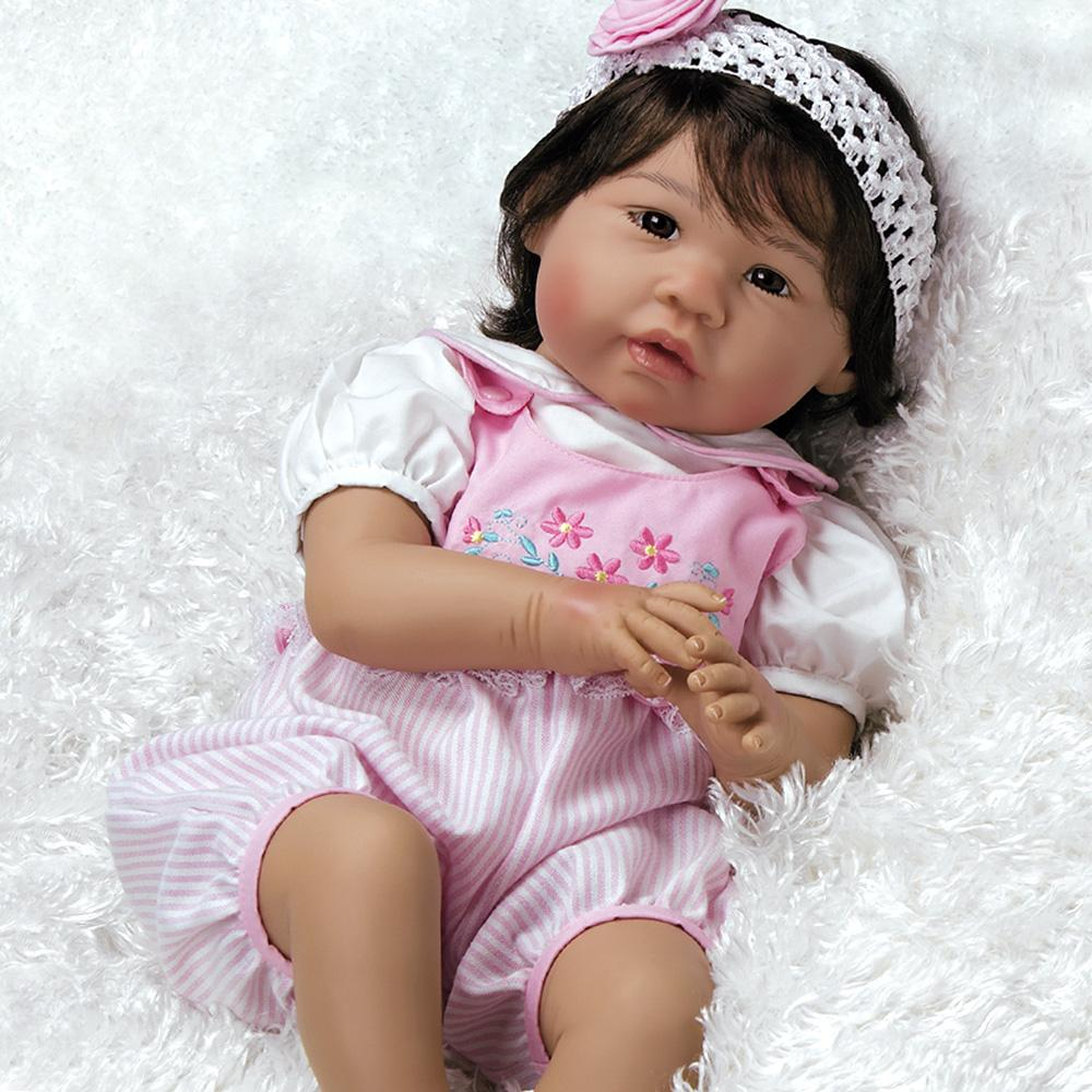 Paradise Galleries Real Life Asian Reborn Baby Girl Doll Sakura, 22 inch Japanese Doll, Weighted Body, 6-Piece Doll Set
