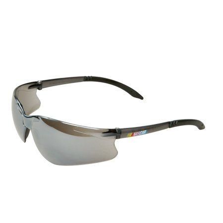 Encon Wraparound NASCAR GT Safety Glasses, Silver Mirror Lens, Gray Frame (Nascar Safety Mirror)
