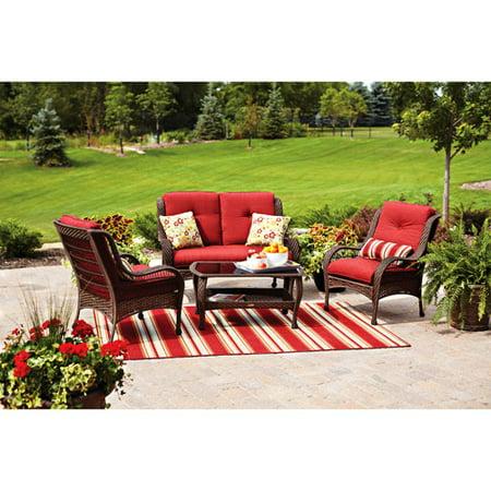 Better Homes And Gardens Lake Merritt 4 Piece Outdoor Conversation Set