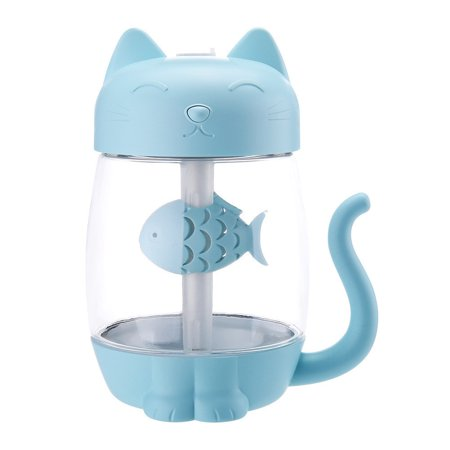 3 In 1 Humidifier Cute Cat LED Humidifier Air Fan Diffuser Purifier Atomizer ()