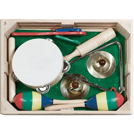 Melissa   Doug Band In A Box Clap  Clang  Tap    10 Piece Musical Instrument Set