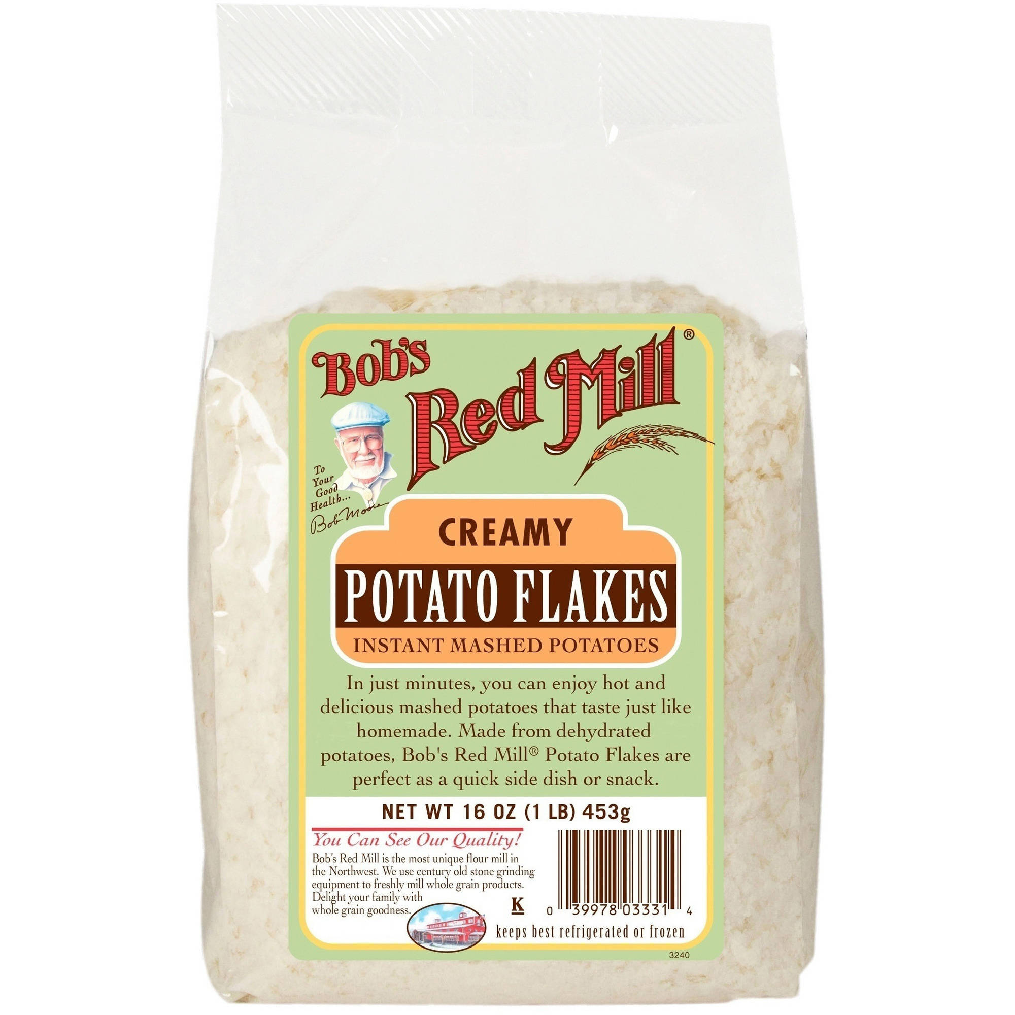 Bob's Red Mill Idaho Potato Flakes Instant Mashed Potatoes, 16 oz, (Pack of 4)