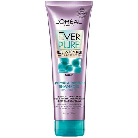 L'Oreal Paris EverPure Sulfate Free Repair and Defend Shampoo with Goji, 8.5 fl.
