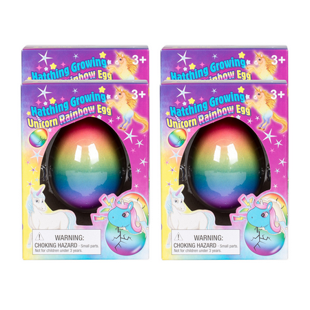 4PC Surprise Growing Unicorn Hatching Rainbow Egg...