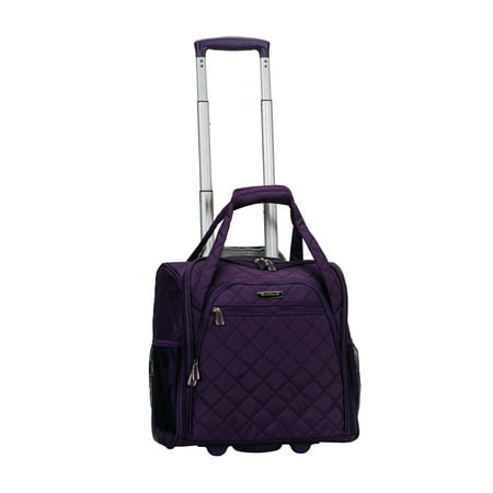 Rockland Wheeled Underseat Carry On Suitcase - Purple
