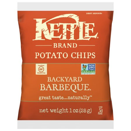 Kettle Brand Backyard Barbeque Multipack of Potato Chips, 1 Oz, 72 (Best Spices For Potatoes)