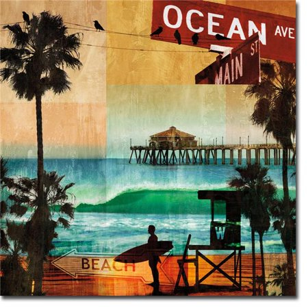 Ocean Avenue by Charlie Carter Premium Oversize Gallery-Wrapped Canvas Giclee Art - 36 x 36 in.
