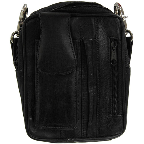 Brinley Co Genuine Leather Mini Carry-All