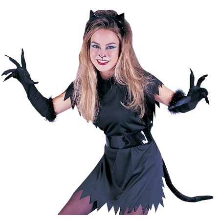 Instant Cat Kit Adult Halloween Accessory - Halloween Black Cat Makeup Ideas