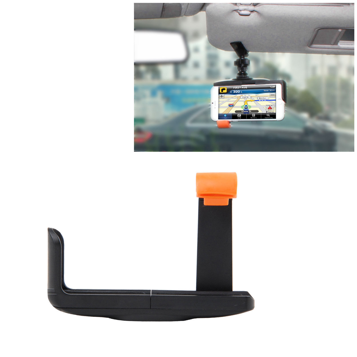 TSV Universal Cell Phone Tripod Mount Adapter Holder for iPhone/Samsung Galaxy/Nexus and More Cell Phones Use on Tripod, Monopod, Selfie Stick, Tabletop Tripod Stand and More