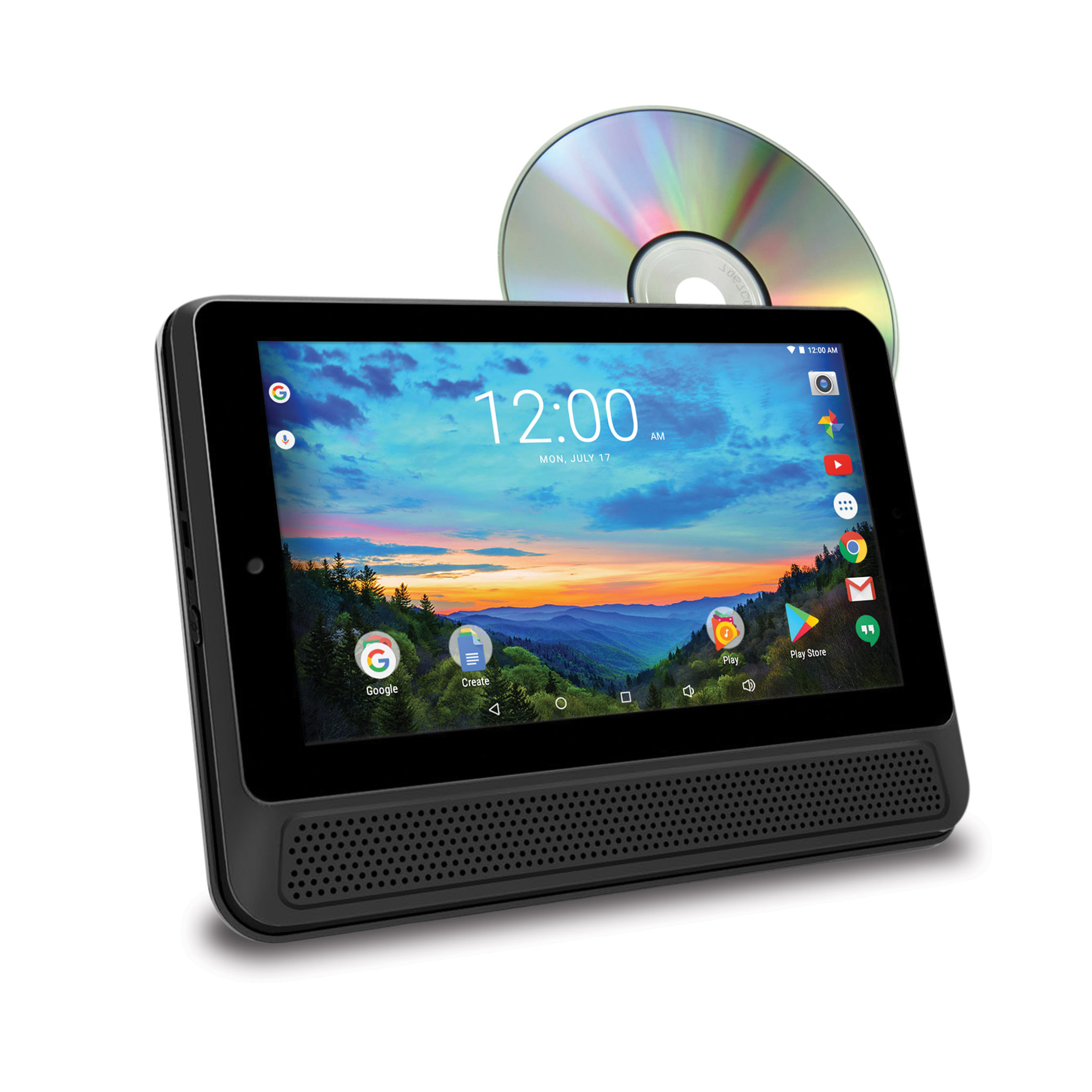 """RCA 10"""" Tablet/Portable DVD Player Combo - 16GB, Android 6.0, (DRP2091D)"""