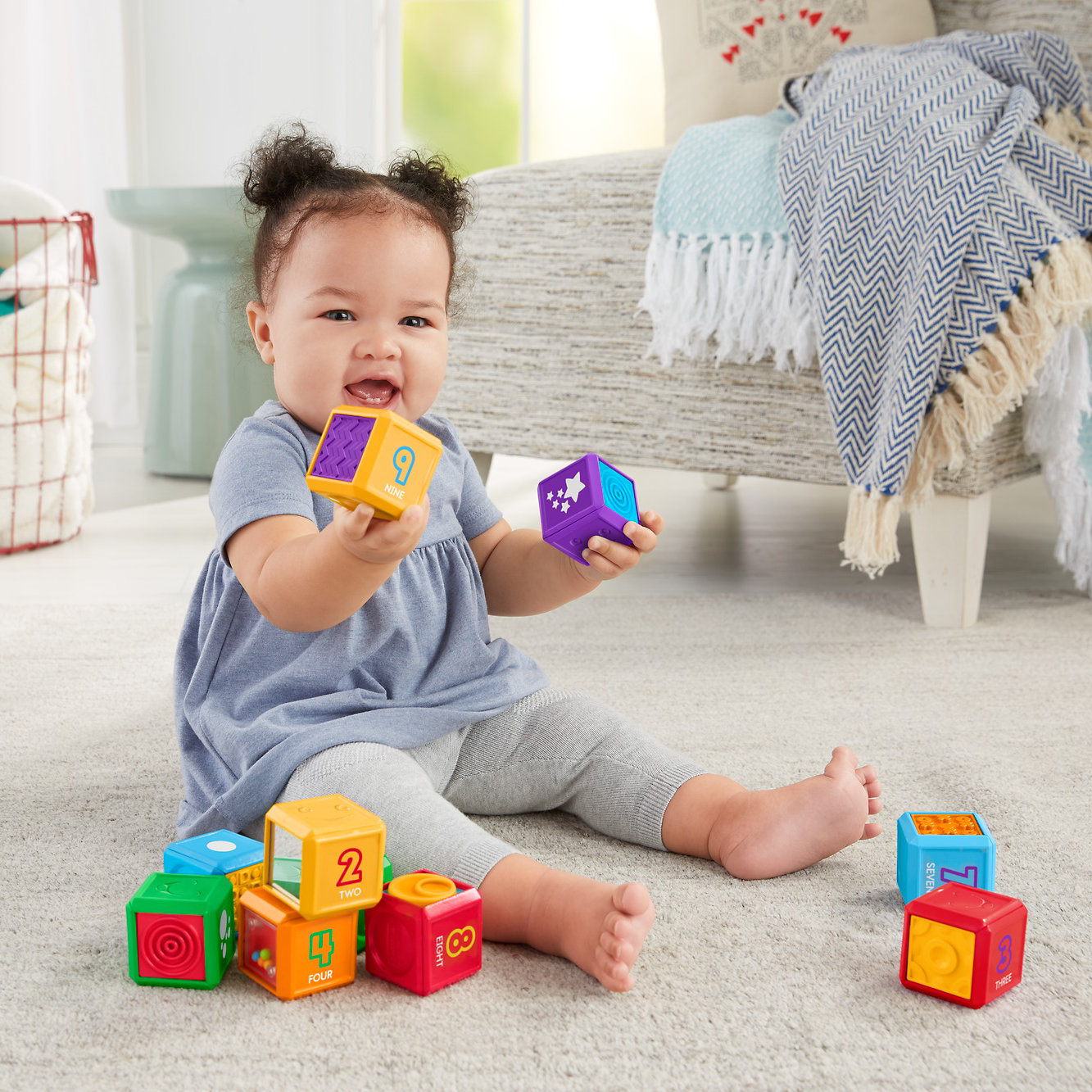 Fisher Price Laugh & Learn First Words Number Blocks by Fisher-Price