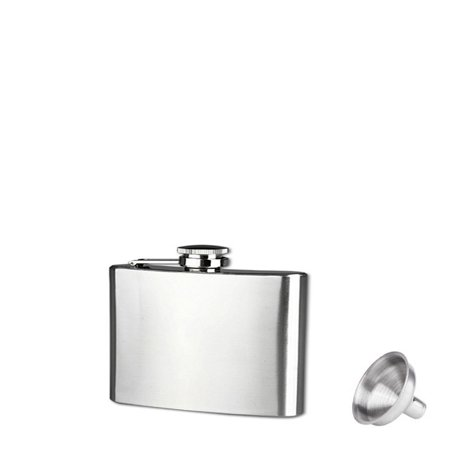 Hammered Design Hip Flask - 4oz Stainless Steel Pocket Hip Flask Alcohol Whiskey Liquor Screw Cap