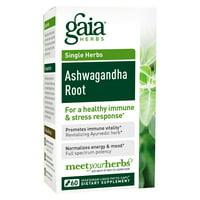 Gaia Herbs Ashwagandha Root Vegetarian Liquid Phyto-Caps, 60 Ct