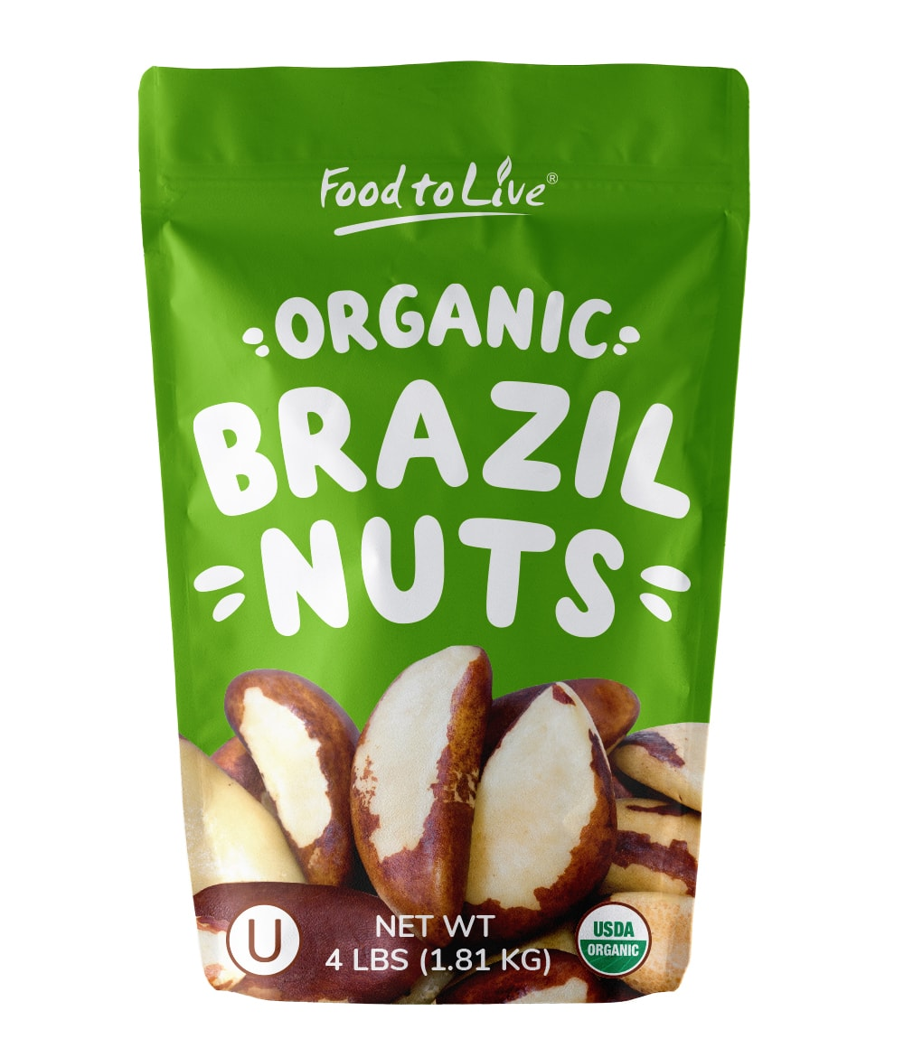 Food To Live ® Organic Brazil Nuts (Raw, No Shell) (4 Pounds)