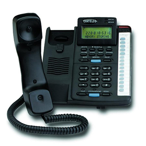 Cortelco Colleague 2200 Basic Phone - 1 x Phone Line(s) - 1 x Data, 2 x Sub-mini phone Headset - Black