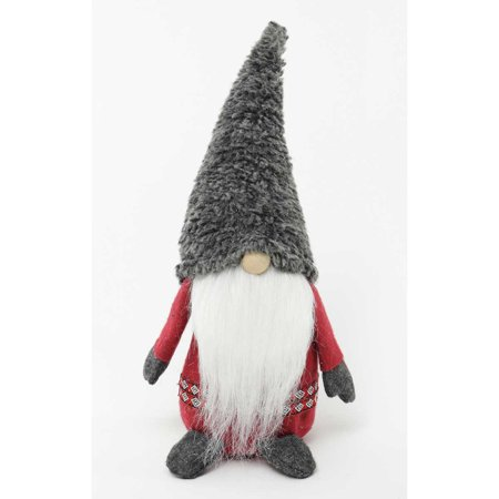 Wooly Bully Viking Gnome with Fuzzy Hat and Belt 8.5 Inch