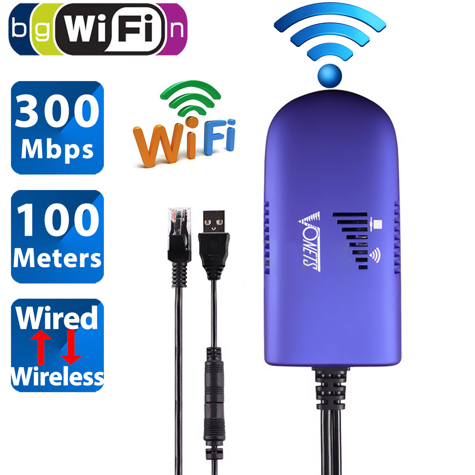 TSV VAP11G Wireless Bridge Cable Convert RJ45 Ethernet Port to WiFi Dongle AP Vonets