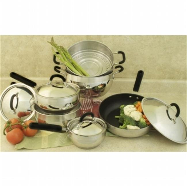 Cookpro 554 Belly Shaped Stainless Steel Cookware Set - 10 Piece