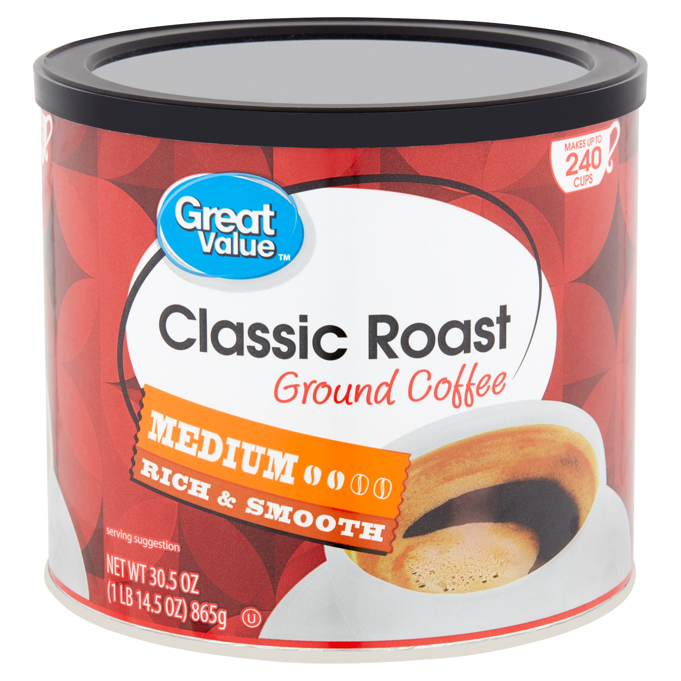 Great Value Classic Roast Medium Ground Coffee, 30.5 oz