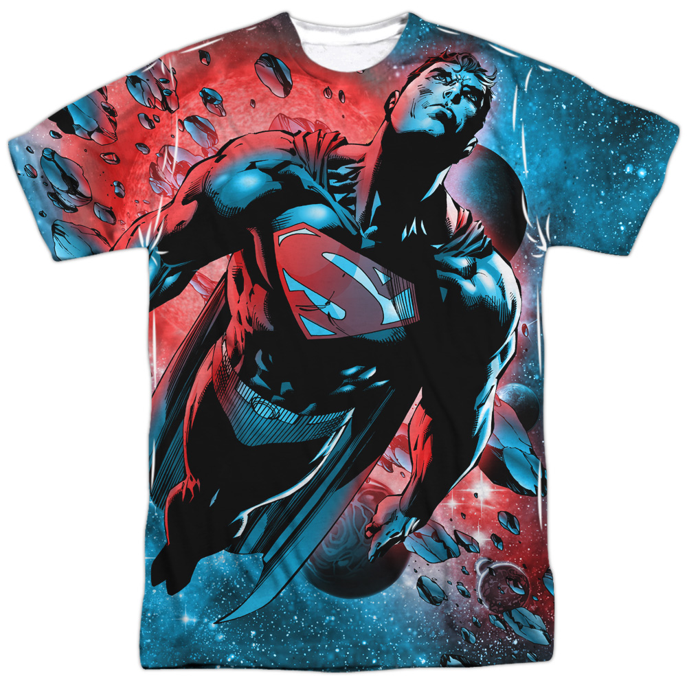 Superman Comic Cartoon TV Series Movie Super Meteor Adult Front Print T-Shirt