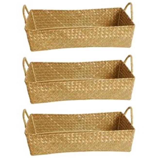 Wald 1502/NAT-sp3 Set Of 3 -17'' Natural Seagrass-Reed Basket