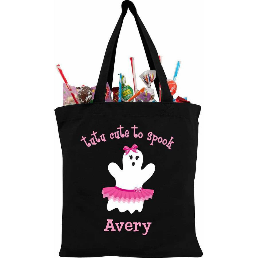 Personalized Girly Ghost Treat Bag