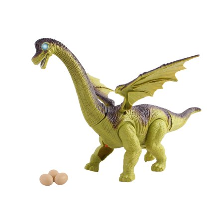 Toy Dinosaur Brachiosaurus Egg Laying Moveable Wings Battery Operated Walking Large 12