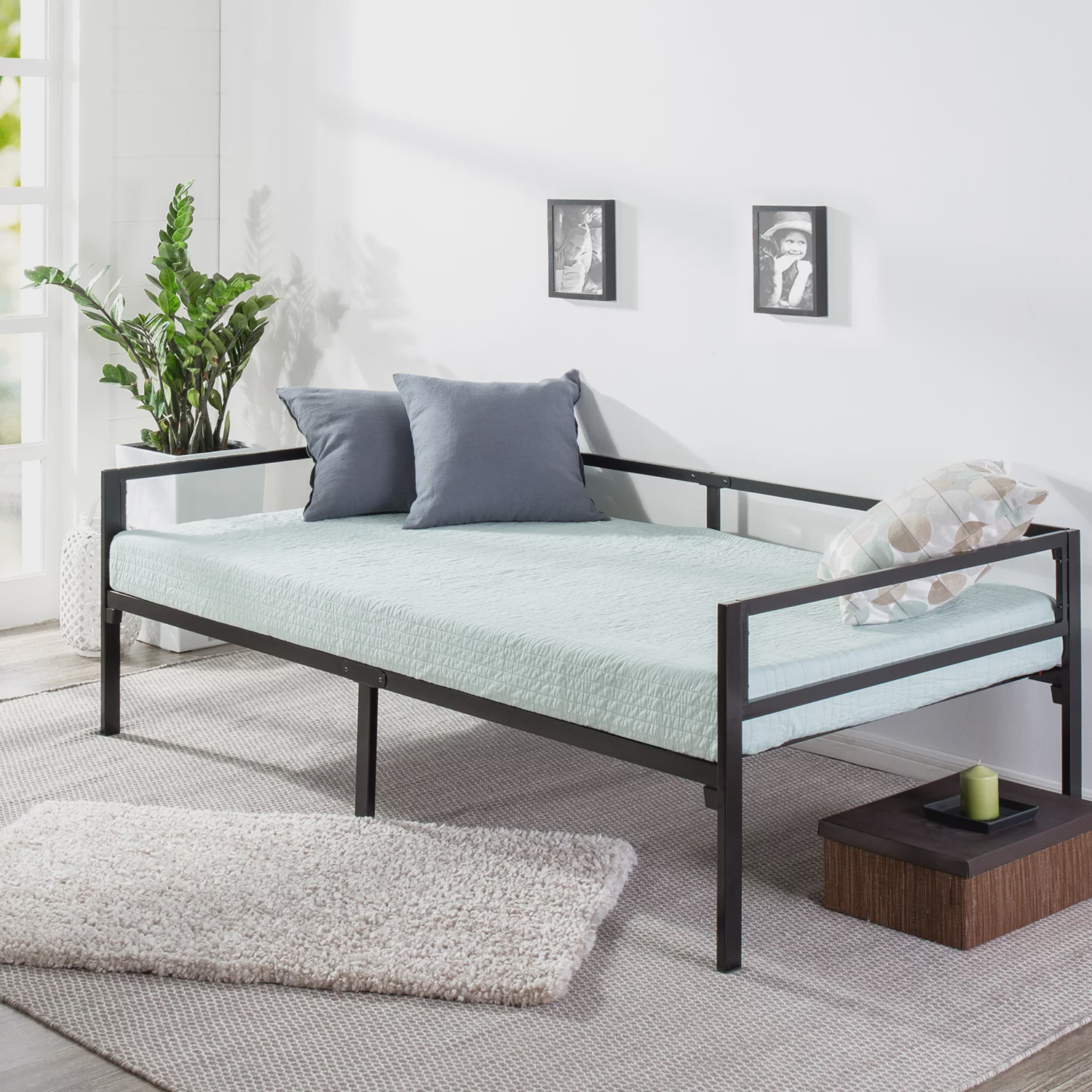- Mainstays Quick Lock Steel Support Twin Daybed Frame - Walmart.com