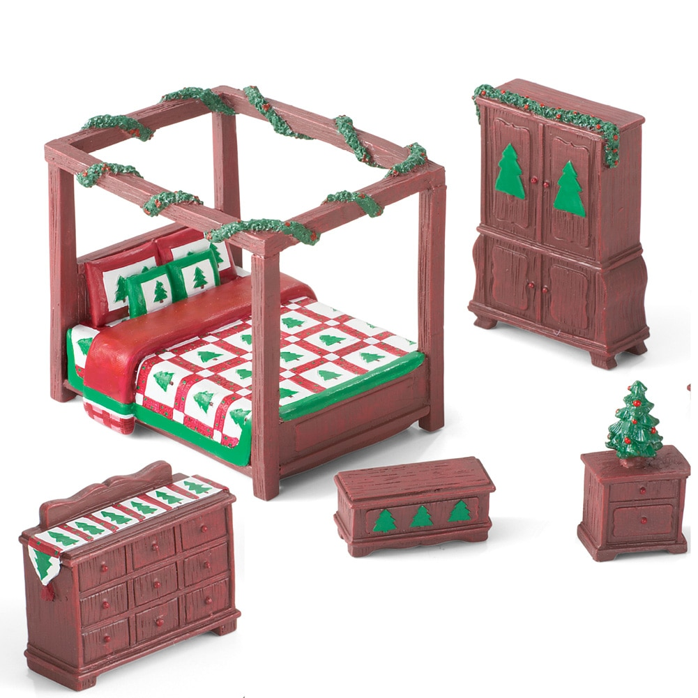 Christmas Quilt Mini Bedroom Furniture Set