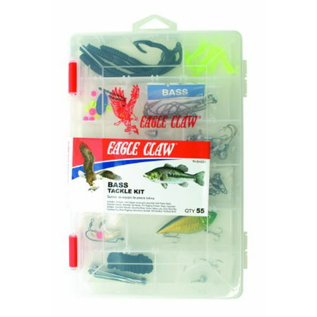 Eagle Claw Bass Tackle Kit 55 Pieces Axis Bass Double Bass