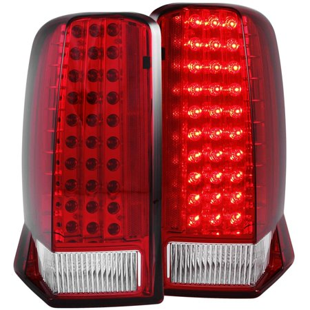 Tail Cap Assembly (ANZO USA 311120 03-06 ESCALADE LED TAIL LIGHTS LED RED/CLEAR (W/O)